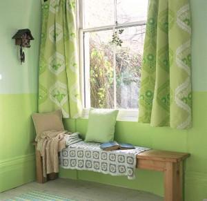 зеленые гардины