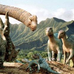 динозавр с детенышами