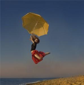 летать с зонтиком
