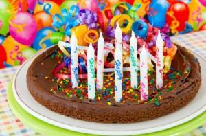 пирог на день рождения