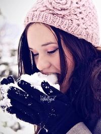 кушать снег