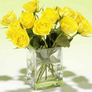 Желтые цветы букет