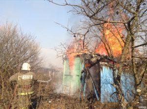 Пожар в дачном саду