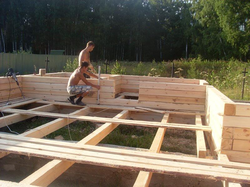 Строительство из бруса дома своими руками