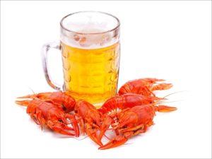 Раки с пивом