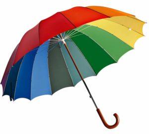 Яркий щит от дождя