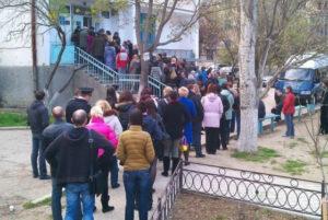 Толпа в ожидании