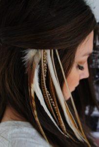 В волосах