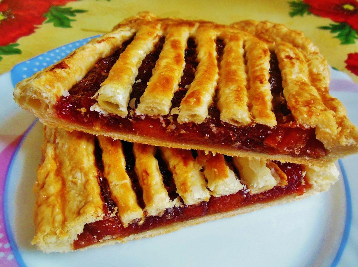 Пироги сладкие рецепты с слоеного теста