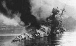 Подбитый крейсер