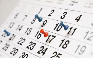 Систематизированные даты
