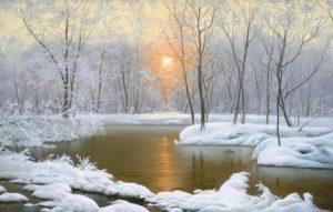 Солнце топит снег