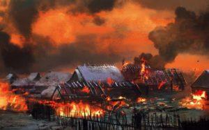 Пылающая деревня