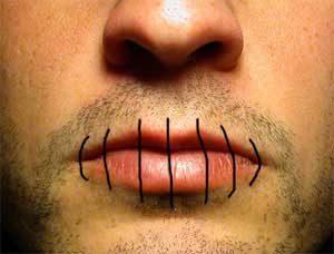 Зашитые губы
