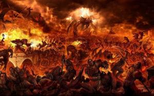 В адском пламени