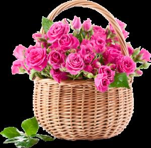 Цветы в кошелке
