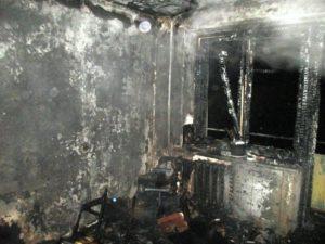 обгоревшее здание