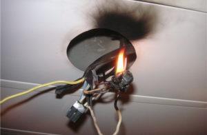 Опасность возгорания