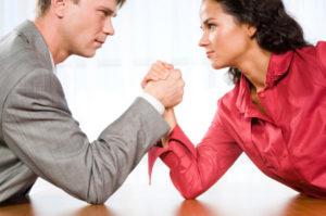 Мужчина против женщины